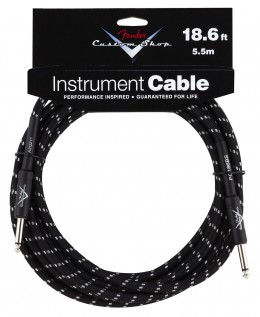 Fender Custom Shop Performance Series 18ft Angled Instrument Cable - Black Tweed