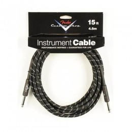 Fender Performance Series 15' Instrument Cable - Black Tweed