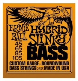 Ernie Ball 2833 Hybrid Slinky Round Wound 4-String Bass Guitar Strings