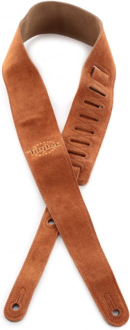 Taylor Guitars Suede Logo Guitar Strap - Honey