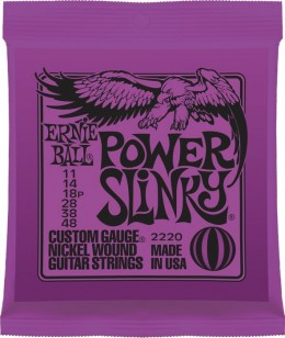 Ernie Ball 2220 Power Slinky (11-48) Nickel Electric Guitar Strings - 3 Pack