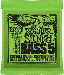 Ernie Ball 2836 Regular Slinky 5-String (45-130) Bass Guitar Strings
