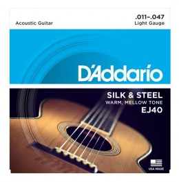 D'Addario EJ40 Silk and Steel Ball End Acoustic Guitar Strings