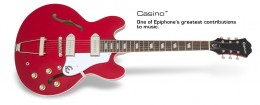 Epiphone Casino - Cherry, Chrome Hardware
