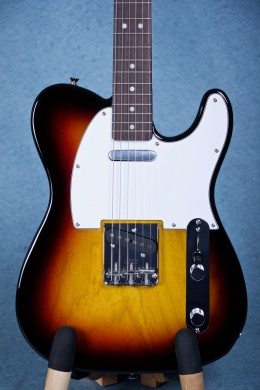 Fender MIJ Classic 70s Ash Telecaster Electric Guitar - Limited Edition Japan Exclusive 3 Tone Sunburst JD16016932