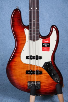 Fender American Professional Limited Edition FMT Jazz Bass - Flamed Maple Top Aged Cherry Burst US17048841