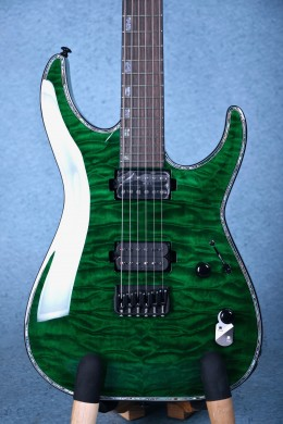 ESP LTD H-1001QM Electric Guitar - See-Thru Green W17111081