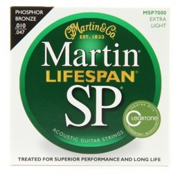 Martin MSP7000 SP Lifespan Extra Light 92/8 Phosphor Bronze Acoustic Strings