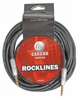 Carson ROK20ST 20ft Stereo Instrument / Audio Cable