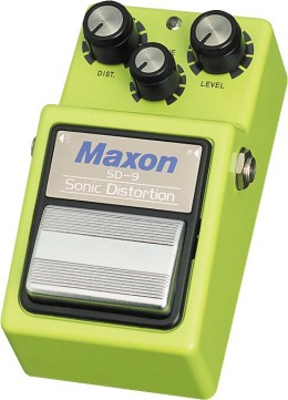 Maxon SD-9 Sonic Distortion Guitar Effects Pedal
