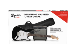 Squier Stratocaster 10G Electric Guitar Pack Black - 0371823306