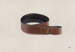 "Taylor Badge Strap 2.5"" - Brown/Tan"
