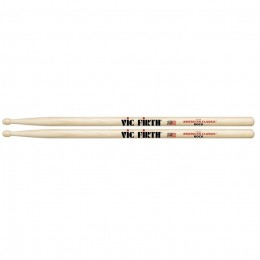 Vic Firth American Classic Hickory Drumsticks - 'Rock' Wood Tip