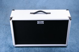 Zilla Modern 2x12 Guitar Speaker Extension Cabinet White - Preowned
