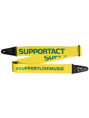 Fender Limited Edition FSR Support Act Charity Strap - Yellow/Green