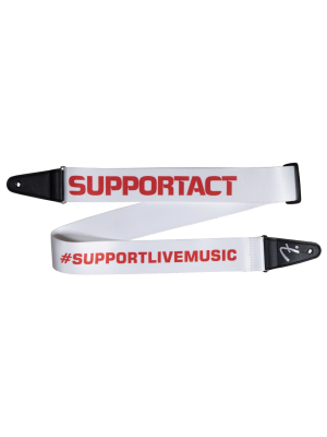 Fender Limited Edition FSR Support Act Charity Strap - White/Red