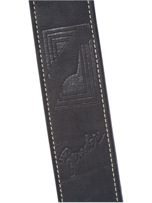 Fender Monogram Leather Strap Black - 0990681006