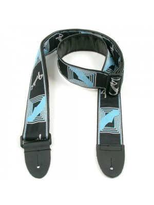 "Fender 2"" Monogrammed Guitar Strap - Black/Grey/Blue"