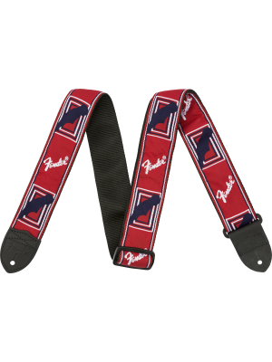 "Fender 2"" Monogrammed Strap Red / White / Blue - 0990682000"