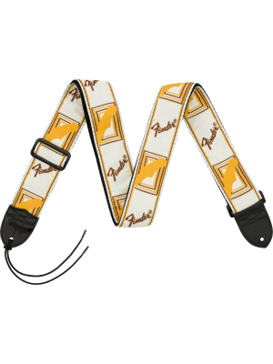 "Fender 2"" Monogrammed Strap White / Brown / Yellow - 0990683000"