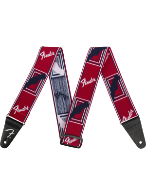 Fender Weighless Monogram Strap Red / White / Blue - 0990686009