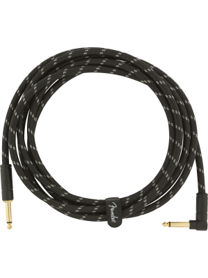 Fender Deluxe Series Instrument Cable Black Tweed 10' Straight / Angled - 0990820090
