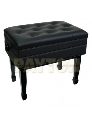 Paytons 52075 Deluxe Adjustable Piano Bench w/Compartment - Black