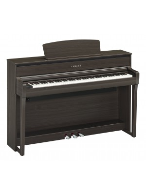 Yamaha CLP675DW Clavinova Digital Piano with Matching Bench - Dark Wanlut