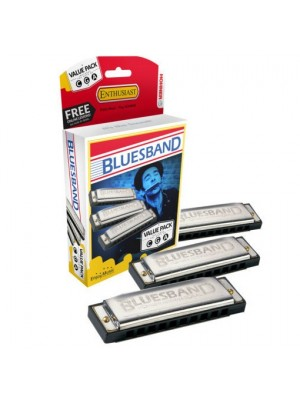 Hohner Blues Band Harmonica Set of 3 (Keys C G A)