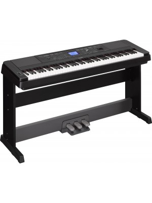 Yamaha DGX660 88 Note Digital Piano (Black) Plus Free LP7A Pedal Attachment
