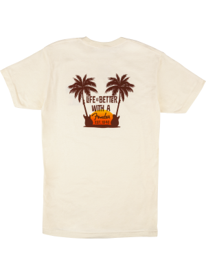 Fender Twin Palms T Shirt Tan Medium - 9190135406