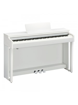 Yamaha CLP625WH Clavinova Digital Piano with Matching Bench - White