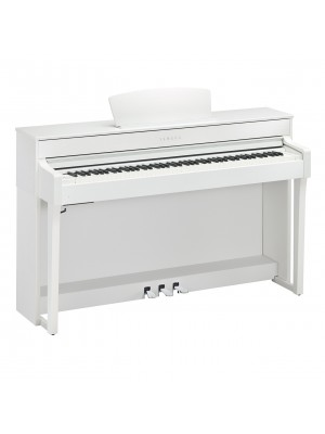 Yamaha CLP635WH Clavinova Digital Piano with Matching Bench - White