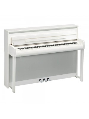 Yamaha CLP685PWH Clavinova Digital Piano with Matching Bench - White