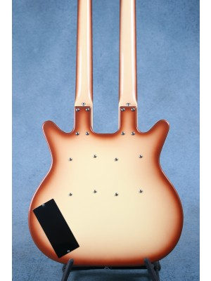 Danelectro DB604 Copper Burst Double Neck Electric Guitar / Bass - Preowned