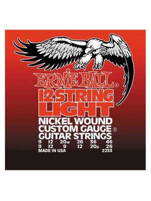 Ernie Ball 2233 Light 12-String (9-46) Nickel Electric Guitar Strings