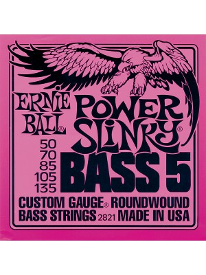 Ernie Ball 2821 Power Slinky 5-String (50-135) Bass Guitar Strings