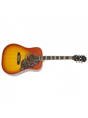 Epiphone Hummingbird PRO Dreadnought Acoustic / Electric Guitar - Faded Cherry