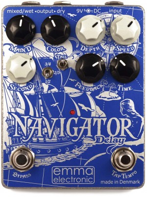 Emma Electronics Navigator Hybrid Delay Effects Pedal