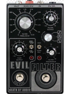 Death By Audio Evil Filter Dual Fuzz / Filter Guitar Effects Pedal