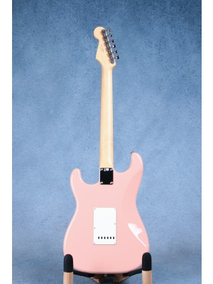 Fender MIJ Hybrid 60s Stratocaster Flamingo Pink Electric Guitar - JD19006454