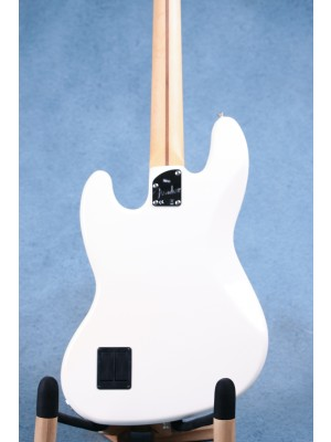 Fender Deluxe Active Jazz Bass Olympic White Electric Bass Guitar (B-STOCK) - MX18064602B