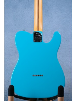 Fender American Professional II Telecaster Miami Blue Left Handed Electric Guitar - US210042429