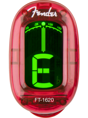 Fender FT-1620 California Clip-on Chromatic Tuner - Candy Apple Red