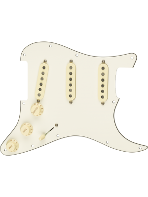 Pre-Wired Strat Pickguard Custom Shop 69 SSS Parchment 11 Hole