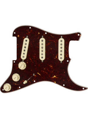 Pre-Wired Strat Pickguard Custom Shop Texas Special SSS Tortoise Shell 11 Hole