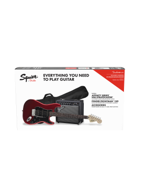 Squier Affinity Stratocaster HSS Electric Guitar Pack Candy Apple Red - 0371824309
