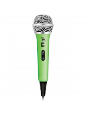 IK Multimedia iRig Voice iOS / Android Handheld Microphone - Green