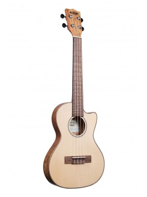 Kala SMT Spalted Maple Travel Tenor Ukulele Cutaway