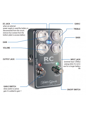 Xotic Effects RCB-V2 Clean Boost Effects Pedal